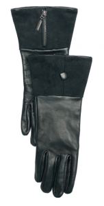 DeVette Gauntlet Lambskin leather glove with bell shaped suede cuff, single square button and zip detail on the front of the cuff. - See more at: http://www.paularowan.com/products-page/womens-gloves/silk-lined-gloves/devette-gauntlet/#!prettyPhoto[5370]/2/. €189.95. Silk Lined Gloves