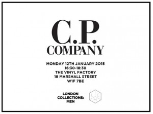 CP Company at London Collections: Men evite