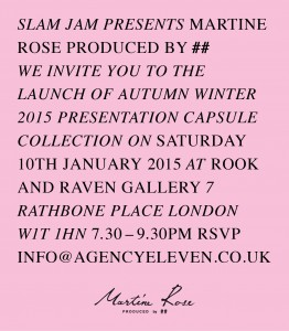 Martine Rose at London Collections: Men